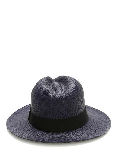 Emporio Lacivert Örgü Dokulu Erkek Hasır Şapka
