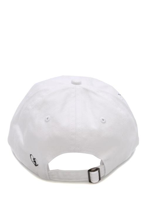 Beyaz Yazı Nakışlı Kadın Şapka