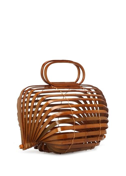 Lileth Kahverengi Bambu Kadın Çanta