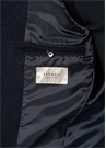 Lacivert Polo Yaka Dokulu Yün Palto