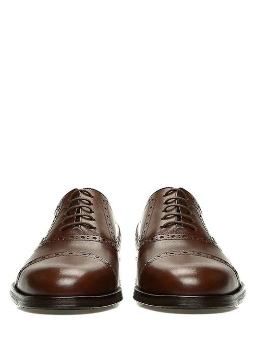 Kahverengi Delikli Erkek Deri Oxford Ayakkabı