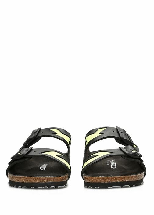 Arizona Siyah Sarı Çift Kemerli Erkek Terlik