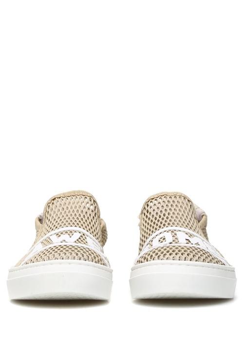 Awesome Mesh Bej File Dokulu Kadın Sneaker