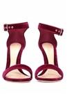 Bordo Kadın Kadife Gece Ayakkabısı