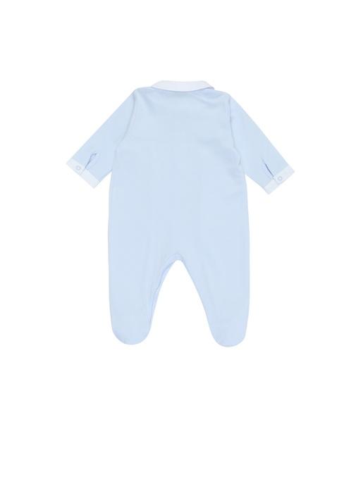 Mavi İngiliz Yaka Erkek Bebek Tulum