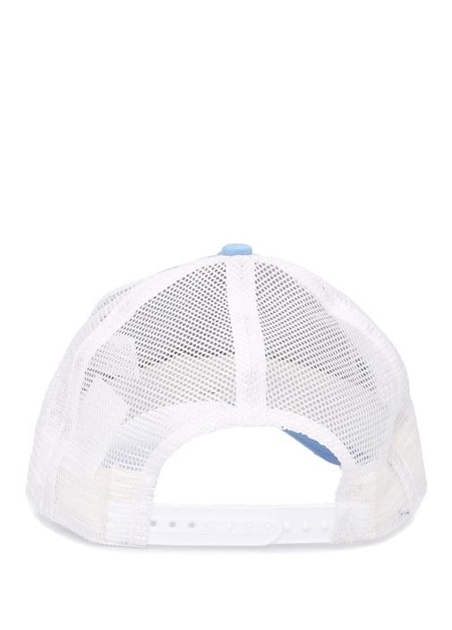 Mavi Beyaz File Dokulu Erkek Şapka