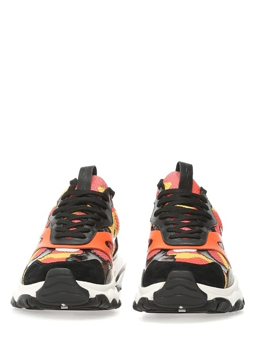 Turuncu Pembe Kamuflaj desenli Erkek Sneaker