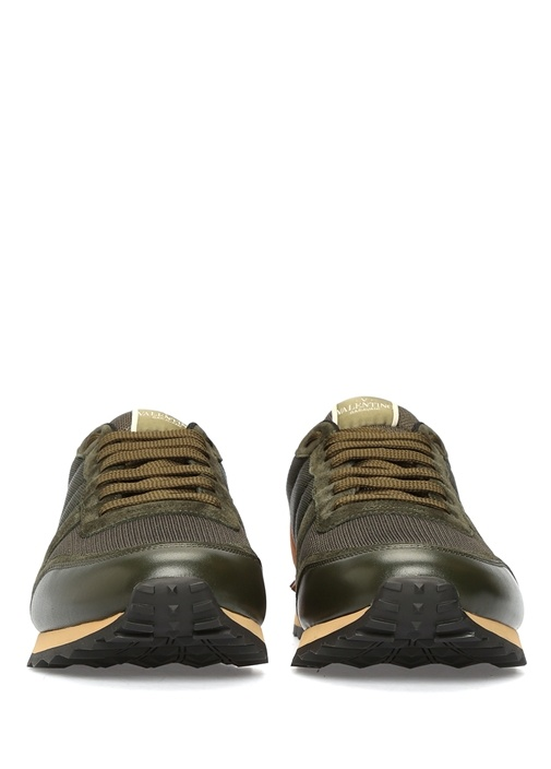 Haki Erkek File Dokulu Sneaker