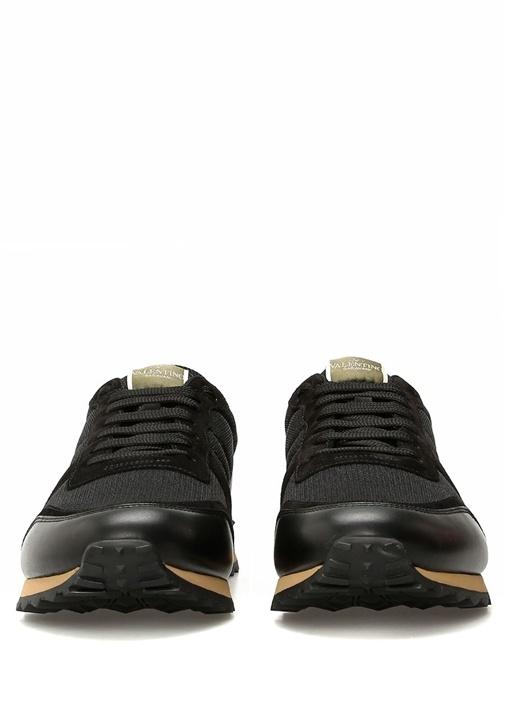 Siyah Antrasit Dokulu Erkek Sneaker