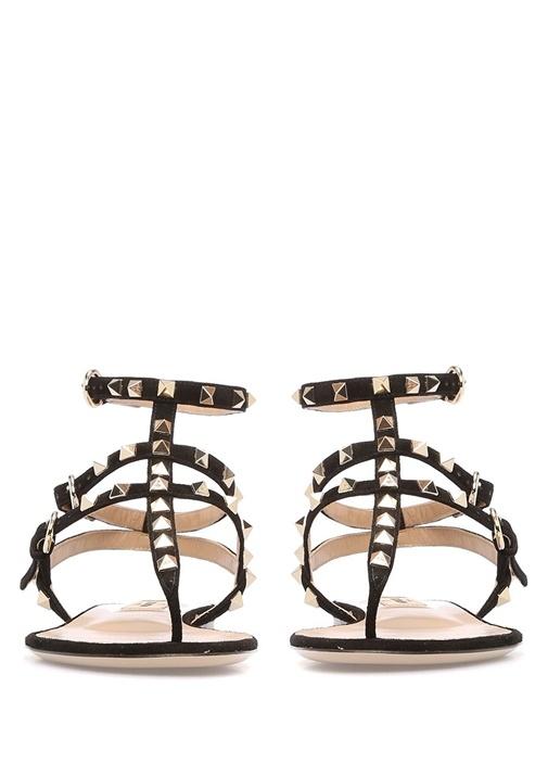 Siyah Süet Kadın Sandalet