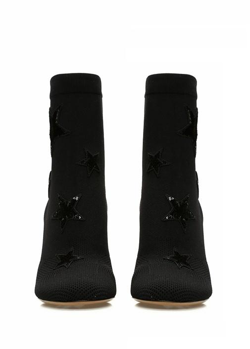 Siyah Kadın Çorap Formlu Bot