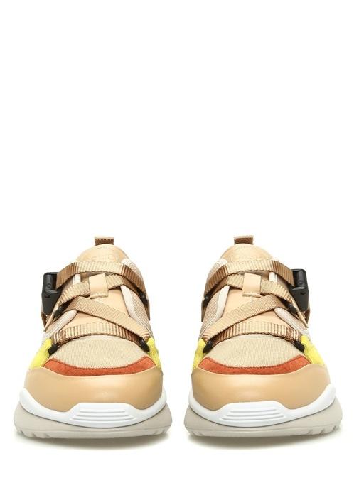 Sonnie Bej Colorblocked Kadın Süet Sneaker