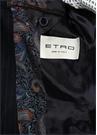 Lacivert Çizgi Desenli Yün Takım Elbise