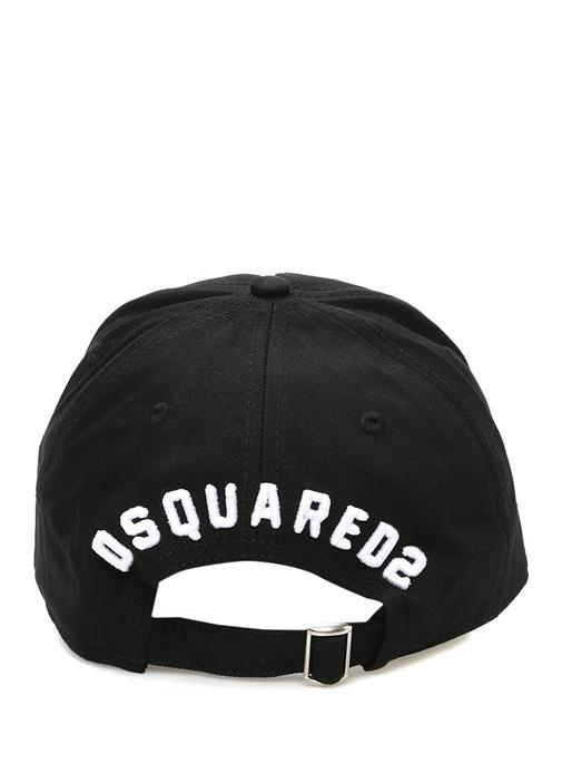 Siyah Beyaz Dokulu Nakışlı Erkek Şapka