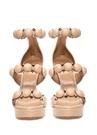 Pudra Trok Detaylı Kadın Deri Sandalet