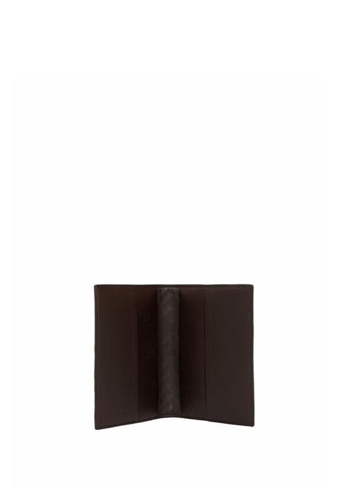 Kahverengi Erkek Örgü Deri Pasaportluk