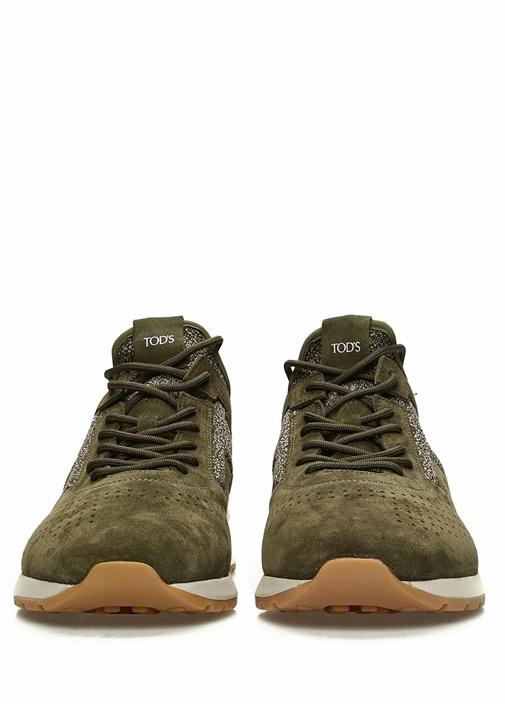 Yeşil Erkek Süet Sneaker