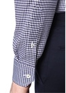 Slim Fit Lacivert Klasik Yaka Desenli Gömlek