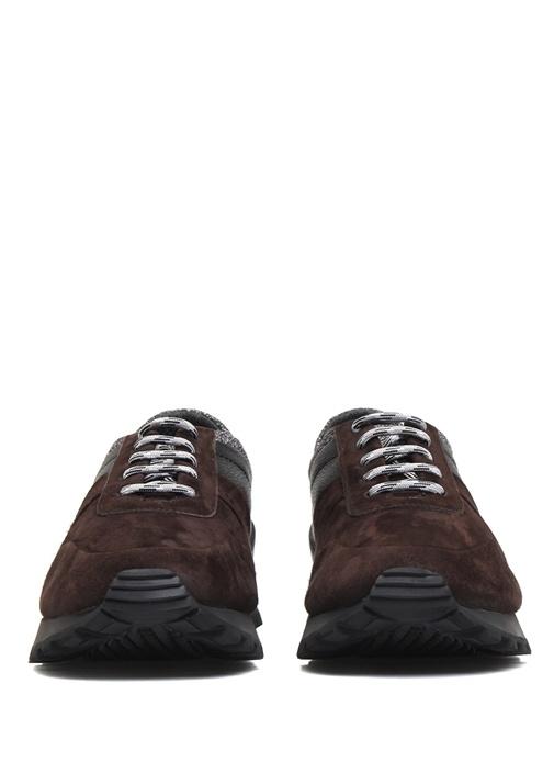 Kahverengi Gri Garnili Erkek Sneaker