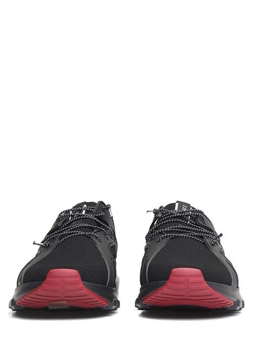 Siyah Logolu Şerit Detaylı Erkek Yün Sneaker