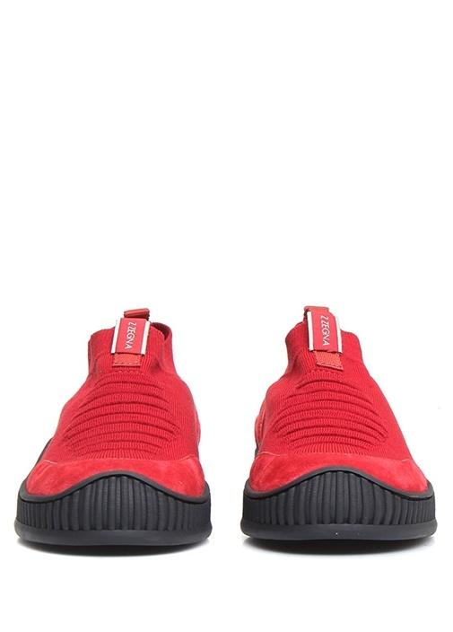 Kırmızı Çorap Formlu Erkek Sneaker
