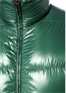 Lacivert Yeşil Çift Taraflı Puff Mont