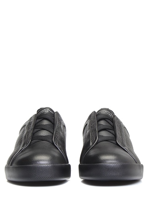 Siyah Çapraz Bağcık Detaylı Erkek Sneaker