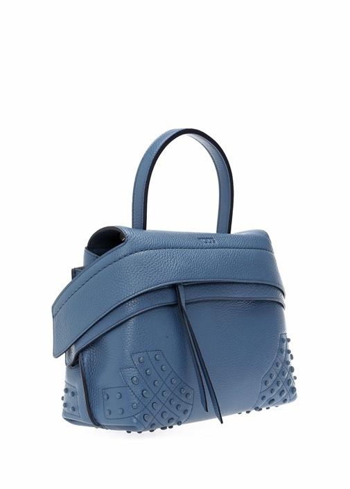 Mavi Logolu Troklu Kadın Deri Çanta