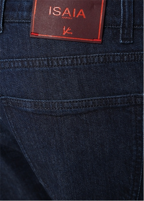 Lacivert 5 Cepli Logolu Jean Pantolon