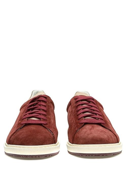 Bordo Logolu Erkek Süet Sneaker