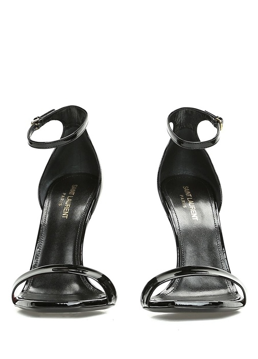 Amber 105 Siyah Kadın Deri Sandalet