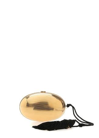 Kadın Gold Oval Formlu Abiye Çanta Altın Rengi EU