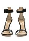 Portofino 105 Siyah Kadın Deri Sandalet