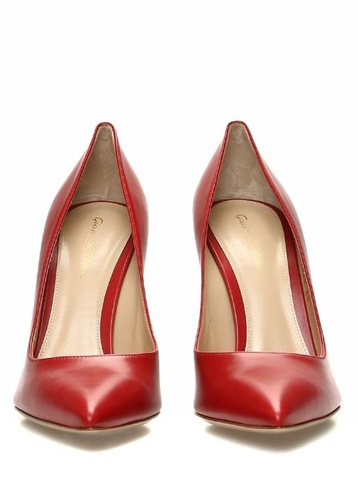 Kırmızı Kadın Deri Stiletto