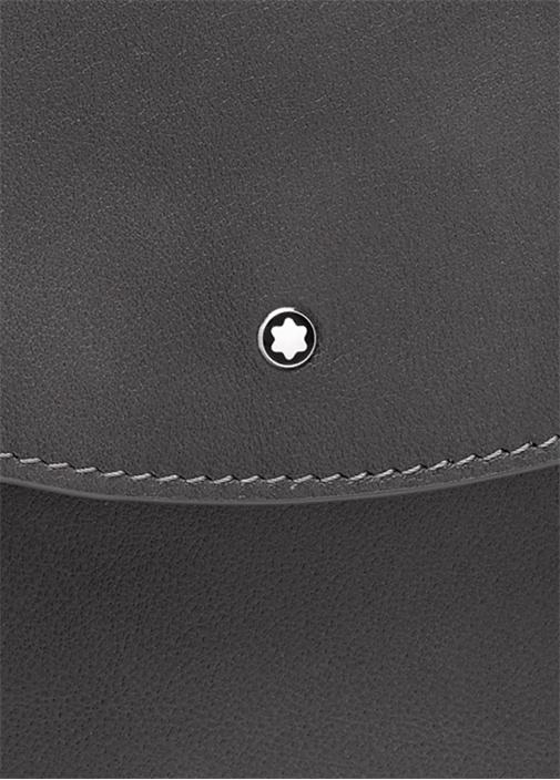 Meisterstück Siyah Logolu Deri Evrak Çantası