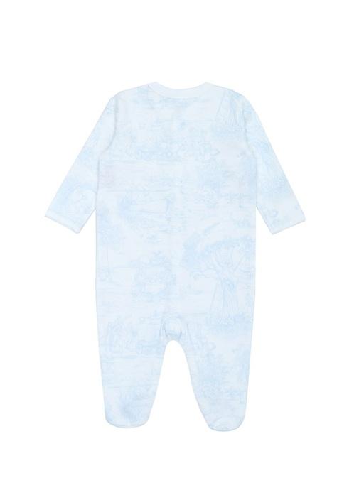 Beyaz 3lü Desenli Logolu Erkek Bebek Hediye Seti