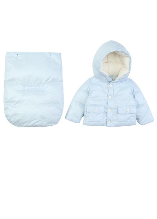 Convert Mavi Kapüşonlu Erkek Bebek Tulum