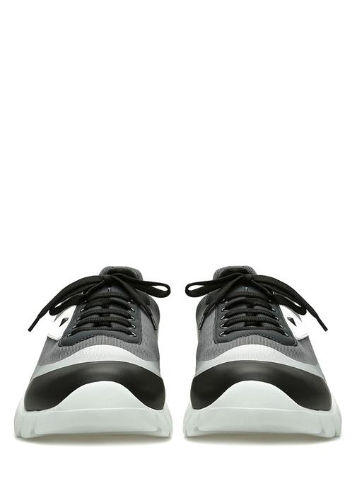 Gri Colorblocked Canavar Göz Patchli Erkek Sneaker