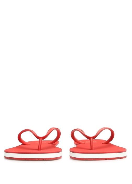 Kırmızı Logolu Erkek Plaj Terliği
