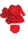 Mouse Kırmızı Puantiyeli Kanatlı Kız Bebek Elbise