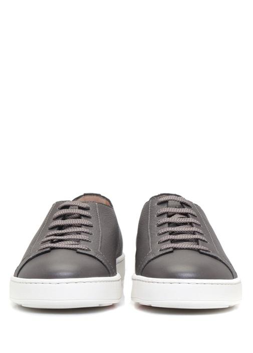 Gri Dokulu Erkek Deri Sneaker