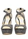 April Pul İşlemeli Kadın Deri Gece Ayakkabısı