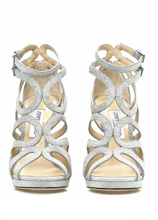 Leo 120 Silver Parıltılı Kadın Gece Ayakkabısı
