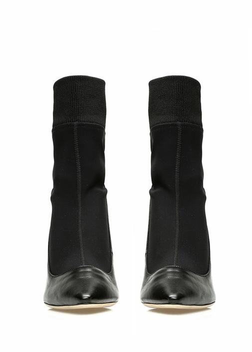 Brandon Siyah Çorap Formlu Kadın Deri Bot