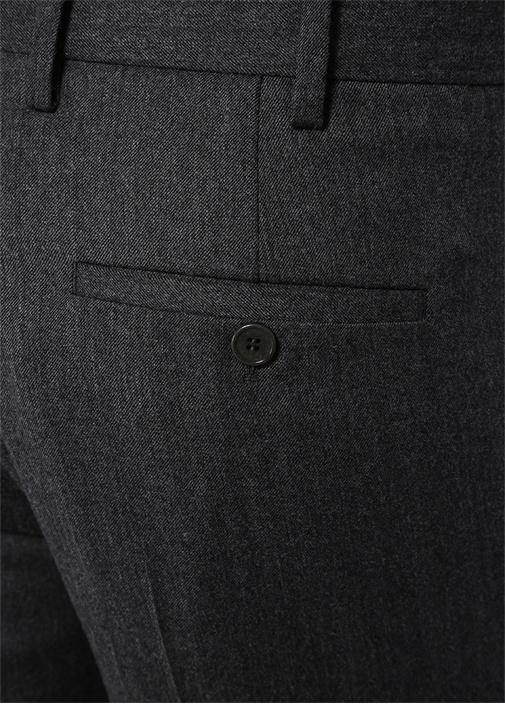Antrasit Fermuar Detaylı Yün Pantolon