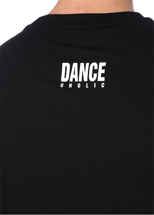 Loose Fit Siyah Baskılı Basic T-shirt