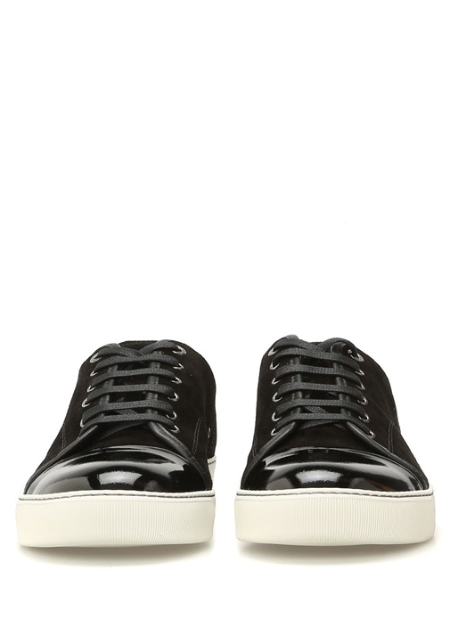 Siyah Rugan Detaylı Süet Erkek Sneaker