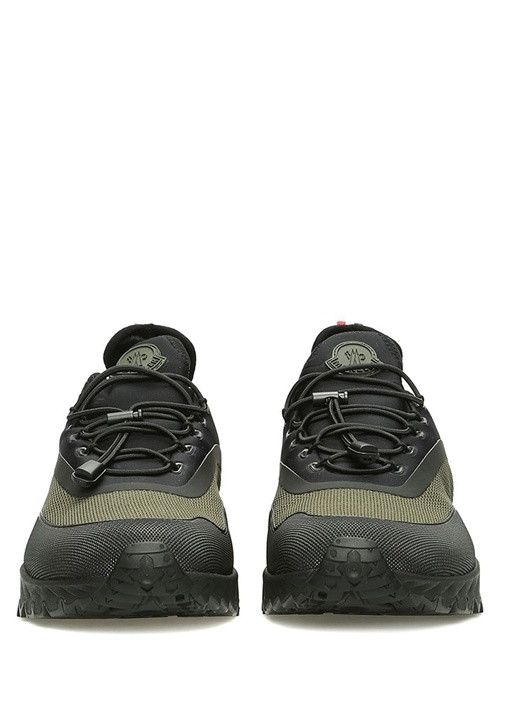 Jericho Siyah Yeşil File Dokulu Erkek Deri Sneaker