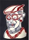 Genius No 2 Lacivert Karikatür Patchli Sweatshirt