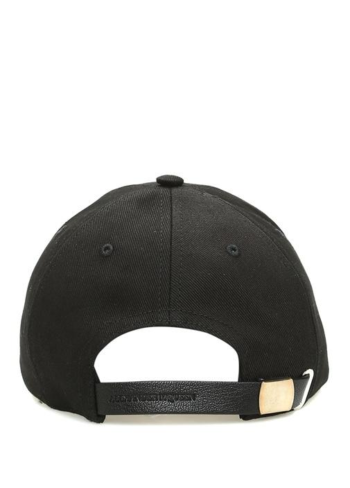 Siyah İskelet Nakışlı Erkek Şapka